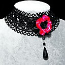 Handmade Sweet Gothic Black Roses Pearl Lolita Necklace