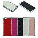Stereoscopic Diamond PU Leather And Silver Plating PC Two in One Back Cover Case for iPhone 6 (Assorted Colors)
