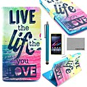 coco-fun-love-life-pattern-pu-leather-fulll-body-case-with-screen-protector-stylus-stand-for-sony-xperia-z1-l39h