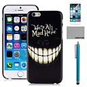 COCO FUN Night Smile Pattern PC Hard Back Case Cover with Screen Protecter, Stand and Stylus for iPhone 6 6G 4.7