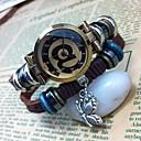 Womens Personalized High-grade Butterfly Pendant Leather Quartz Movement Bracelet Watches