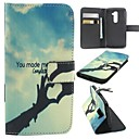 Hands of Love Pattern PU Leather Cover with Stand and Card Slot for LG G2