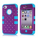 2014 new 3 in 1 Combo Hybrid Case Glitter/bling Studded Diamond Dual Layer Pcsilicone Protective Case for iPhone 4/4s