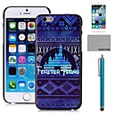 COCO FUN Blue Indian Pattern PC Hard Back Case Cover with Screen Protecter, Stand and Stylus for iPhone 6 6G 5.5