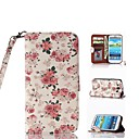 Flower Pattern PU Full Body Case with Card Slot and Stand for Samsung Galaxy S3 I9300