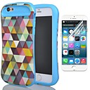 Two-in-One All Sorts of Color of The Rhombus Pattern PC and Silicone Cover and Protective Film for iPhone 6