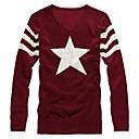 Mens V Collar Pullover Bodycon Knit Sweater
