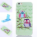 Colorful Birds Pattern Silicone Soft Cover for iPhone 6 Plus