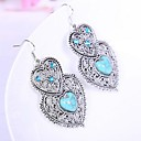 Coway Folk Style Love Vintage Turquoise Earrings