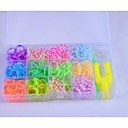 Rainbow Loom Style  Bands Set (600Pcs Rubber Bands,8 S,1Y,1Hook)