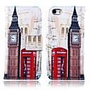 Big Ben Pattern Full Body Case with Stand for iPhone 5/5S