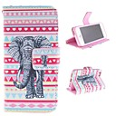 The Elephant Design PU Full Body Case with Card Slot for iPhone 5/5S