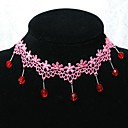 Handmade Sweet Classical And Traditional Red Crystal Lolita Necklace