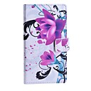 Purple Flower Pattern PU Leather Case with Stand and Card Slot for Nokia Lumia 830