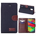 HHMM Solid Color Plaid Grain PU leather for Samsung GALAXY NOTE4