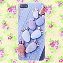 Stones Footprints Pattern Embossment Back Case for iPhone 5/5S