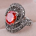 Vintage Elegant Zircon Statement Ring