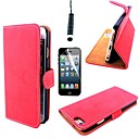 Retro Matte PU Leather Cover with Card Slot with Touch Pen and Protective Film for iPhone 6 Plus(Assorted Colors)