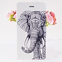 Classical Elephants Pattern Leather Full Body Cases with Stand for iPhone 6
