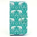 Rhinoceros Pattern PU Leather Case with Stand and Card Slot for Samsung Galaxy S4 I9500