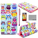COCO FUN Cute Owl Pattern PU Leather Case with Screen Protector, Stylus and Stand for Samsung Galaxy Note 3