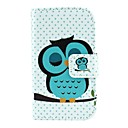 Sleeping Owl Pattern PU Leather Full Body Case with Card Slot and Stand for Samsung Galaxy Young 2 G130