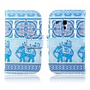 Elephants Pattern PU Leather Case with Stand for Samsung Galaxy S3 MINI I8190