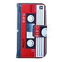 Red-white Tape Pattern PU Leather Full Body Case for iPhone 4/4S