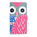 Owl Deer Pattern PU Leather Case with Stand and Card Slot for Sony Z3 Compact