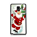Elonbo Cute Santa Claus Plastic Hard Back Case Cover for Samsung Galaxy Note 4