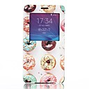 Dessert Pattern PU Leather Cover with View Window for Samsung Galaxy Note 4
