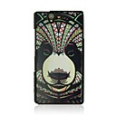 Panda Leather Vein Pattern Hard Case for Sony Xperia Z/L36h