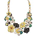 Beautiful Flowers and Sweet Pastoral Style Fashion Necklace