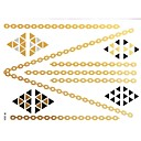 1Pc Gold and Black Necklace Tattoo Sticker 23x15.5CM