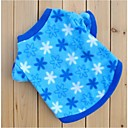 Blue Fleeces Flowers Winter Shirts for Pets Dogs (Assorted Sizes)