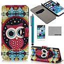 COCO FUN Star Owl Pattern PU Leather Full Body Case for iPhone 6 6G 4.7 with Screen Protecter, Stand and Stylus