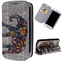 Flowers Elephants Pattern PU Leather Full Body Case with Stand and Card Slot for Samsung Galaxy S3 I9300