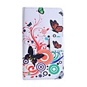 Butterfly Love Flower Pattern PU Leather Case with Stand and Card Slot for Huawei Y330