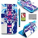 COCO FUN Fierce Tiger Pattern PU Leather Full Body Case with Screen Protector, Stylus and Stand for LG G2