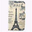 Paris Tower Pattern PU Leather Full Body Cover with Card Slot for Samsung Galaxy Note 4