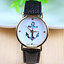 Womens Fashion Style Rose Gold Dial Leather Band Quartz Analog Wrist Watch (Assorted Colors)