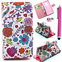 Red Bird Pattern PU Leather Cover and Touch Pen with Diamond Dust Plug for LG G3