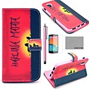 COCO FUN Hakuna Sunset Pattern PU Leather Full Body Case with Screen Protector, Stylus and Stand for LG Google Nexus 5