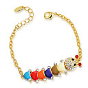 ROXI Christmas Gift Classic Women Animal Bracelet,Clear Austrian Crystals, Golden Platedjewelry,New Year Gift2060011726B