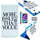 COCO FUN Vogue Print Pattern PU Leather Case with Screen Protector, Stylus and Stand for Samsung Galaxy Note 4