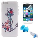 Roses and Anchor Design PC Hard Cover with Stand and Protective Film for iPhone 6