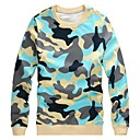 Mens Plus Size Camouflage Pure Cotton Pullover Long Sleeve Sweatshirts