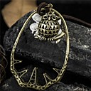 Vintage Owl  Fabric Flower Pendant Necklace