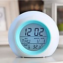 Coway Creative Mini Light Colorful Luminous Alarm Clock For LED Nightlight