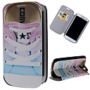 Shoes Pattern PU Leather Full Body Case with Stand and Card Slot for Samsung Galaxy S3 I9300